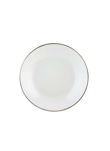 Bella Maison Allure Beyaz Yemek Tabağı 6'lı (21 cm) Renkli